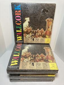 "Vintage Wall Cork Sheets Lot Of 5 Manton Cork Corporation 20 Piece 12"" x 12"""