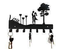 Love Couple Steel Key Holder Key Rack Metal Key Cabinet Decorative Key Hanger