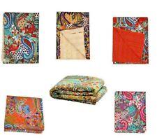 Kantha Quilt Indian Vintage Handmade Cotton Bedspread Blanket Ralli Gudari Throw