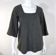 A Pea in the Pod Maternity Pure Cashmere 3/4 Sleeve Sweater Size M Medium Gray