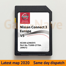 NISSAN Connect 3 V5 X-TRAIL QASHQAI JUKE NOTE Card Map EU & UK 2020 - 2021