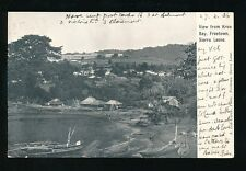 Africa SIERRA LEONE Freetown from Kroo Bay PPC used 1906  local pub Lisk-Carew