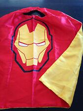 Kids Adult SuperHero Ironman Satin Cape Costume Fancy Dress Up Play Party FUN