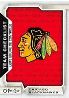 18/19 O-PEE-CHEE OPC TEAM CHECKLIST #583 CHICAGO BLACKHAWKS *55360