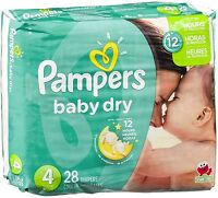 Pampers Baby Dry Diapers, Size 4 28 ea (Pack of 5)