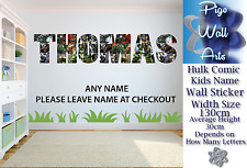 Hulk wall sticker ANY NAME Children's Bedroom WALL DECAL ART MURAL