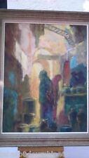 Peinture orientaliste signée.  Oriental painting signed