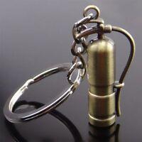 Retro Fire Extinguisher Shaped Keyring Metal Alloy Keychain Key Holder US