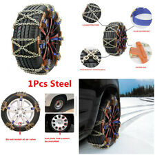 Universal 1Pcs Steel Car Snow Chains Wheel Tire Emergency Anti Skid Chains Kit