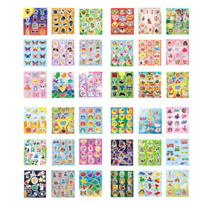 3 Packs Childrens Kids Sticker Sheets Packs Party Bag Fillers  BUY 3 GET 1 FREE