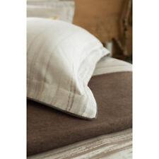 Christy Bedlinen Jacquard Painted Stripe Mocha Standard King Pillow Shams Pair