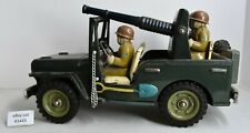 "(Lot #1443) Vintage Japan Tin Friction Toy Army Jeep Large 11"" Long"