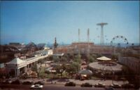 Coney Island Steeplechase Park Roller Coaster c1950s Postcard #2 EXC COND
