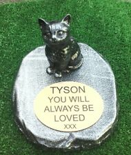 Cat Memorial  pet loss gift. Cat Loss Beloved pet -  Gravestone new 5