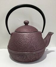 T2 JAPANESE BUTTERFLY CAST IRON TEA POT LILAC 13 X 13CM RRP £130*NEW FREE P&P*