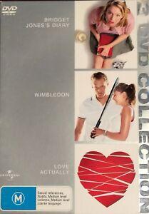 Bridget Jones's Diary  / Wimbledon / Love Actually (DVD, 2006, 3-Disc  Box Set)