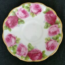 Royal Albert Old English Rose Bone China Saucer ONLY England   D4