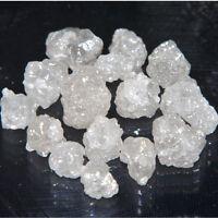 5.15 ct Loose 2.5-3.5mm Natural Real White Raw Uncut Diamonds VIDEO kk703