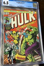 Incredible Hulk 181 CGC 6.5 comic book 1st WOLVERINE 1974 - Pressable Defects
