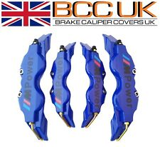 NEW BLUE Brake Caliper Covers Kit Black M Power Logo Front Rear 4x M+S fits BMW