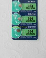 3 Piles SONY 364 - SR621SW - 1.55V Neuf