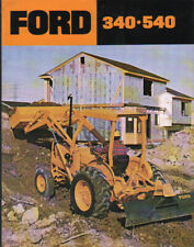 Ford 340 and 540 Industrial Tractor Brochure Leaflet