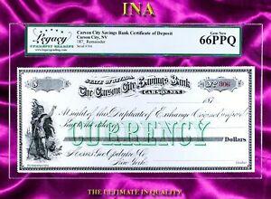 INA Nevada Carson City Savings Bank Payable at Geo Opdyke Co NY LEGACY 66 PPQ
