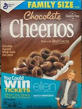 NEW GENERAL MILLS FAMILY SIZE CHOCOLATE CHEERIOS CEREAL 20.3 OZ BOX GLUTEN FREE