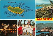 BR1788 Portugal Madeira map carte geographique multi vues