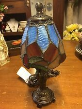 Tiffany Style Stained Glass Small Accent Table Desk Lamp Night Light Decor
