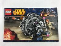 Lego Star Wars 75040 Instructions Booklet / Manual Only 2014