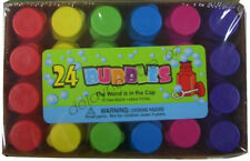 24x Mini Bottles Bubble Kids Birthday Party Easter Favours Treat Bag Colourful