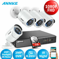 ANNKE 8CH 3MP DVR 2MP Starlight IR Night Vision CCTV Security Camera System 1TB