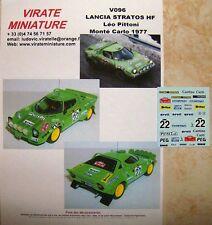 V096 Lancia Stratos HF Rallye Monte Carlo 1977 Leo Pittoni Decals Virate