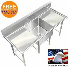 POT SINK 1 COMPARTMENT 72X30 NSF APPROVED HEAVY DUTY 16GA LARGE SIZE MADE IN USA