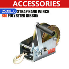 2500LBS Hand winch For Boat, Trailer and 4WD /1136KGS 2-Speed Strap