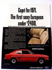 1971 Mercury Capri Automobile Original Print Ad Sexy European Car