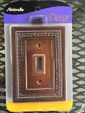 Amerelle Decor Collection Resin Switch Plate Bronze Color