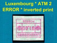Luxembourg ATM 2 * ERROR: Inverted Print / Paper *  01,00 Fr. MNH * FRAMA * CVP