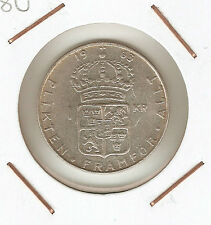 SUECIA (SWEDEN) 1 KRONA 1963 U (silver)