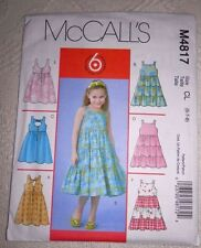 McCalls Pattern M4817 Girls Dresses Size CL (6-7-8) **NEW Uncut