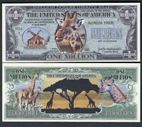 Panda Preservation Million Dollar Novelty Bill with facts Lot of 25 Bills