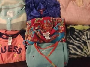 Lot of 7 Girls Dresses Size 10/12 JUSTICE LL BEAN GUESS long & short sleeve EUC