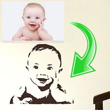 Custom Wall Sticker Name Transfer Decal Kids Decor Stencil Family Photo Graphic