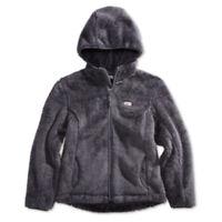 New Weatherproof 32 Degrees Big Girls Faux Shearling Full-Zip Hooded Jacket