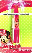 "DISNEY MINNIE MOUSE Lipstick Shaped Ink Pen PINK .75"" x 4"" Ages 3+ (CARDED) New"