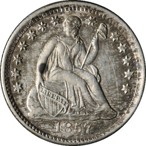 1857-P Seated Liberty Half Dime Great Deals Executive Coin Company - BBH10C1582