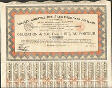 DECO => Ets LEVILAIN (BILLY-MONTAIGNY 62) (U)