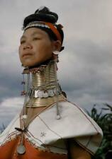 Photo. 1961-2. E. Burma.    Padaung Woman - extended neck