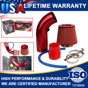 3 Inch Red Pipe Diameter Air Intake Filter +Clamp Cold Car Air Kits+ Accessories
